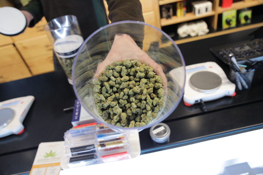 cannabis dispensary employee prices products