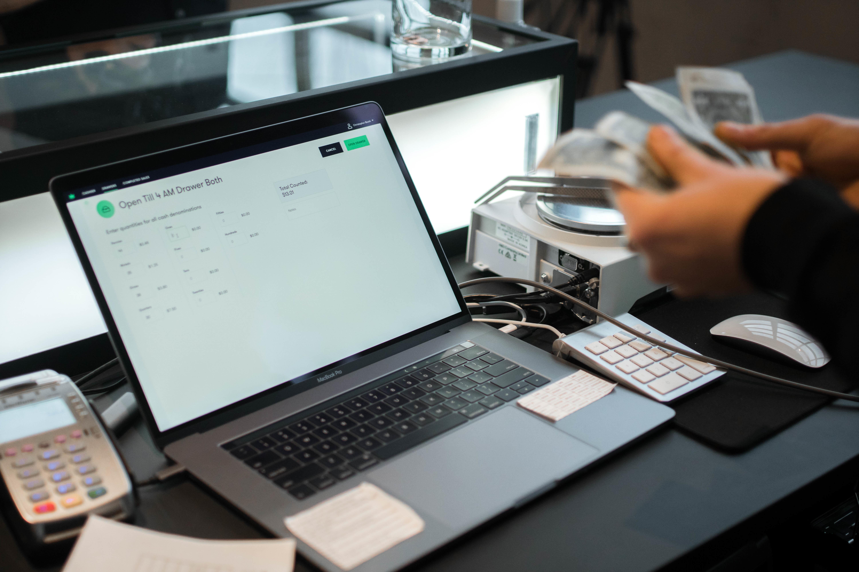 cannabis dispensary hardware laptop