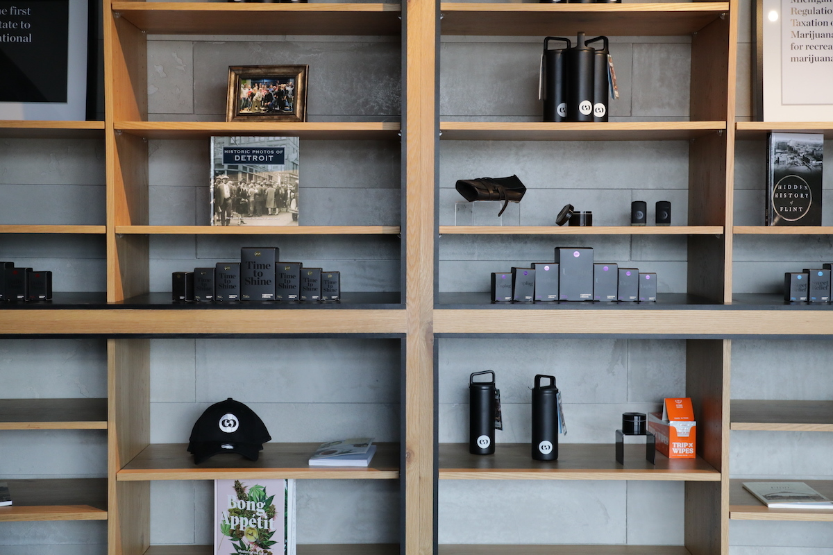 Common Citizen (MI) uses built-in bookshelves to highlight products