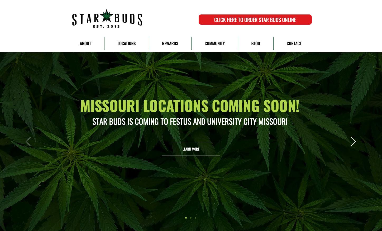 Star Buds in Colorado has a modern, clean website design.