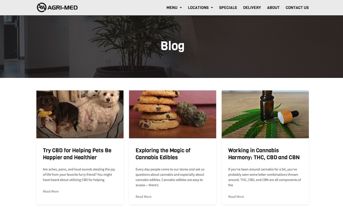 Agri-Med - Michigan - best dispensary website example