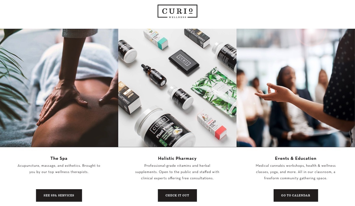 Curio Wellness - Maryland - best dispensary website example