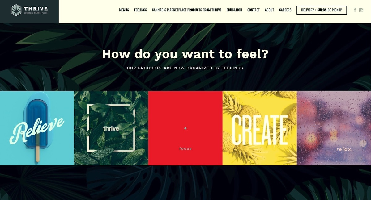 Thrive Cannabis - Nevada - best dispensary websites examples