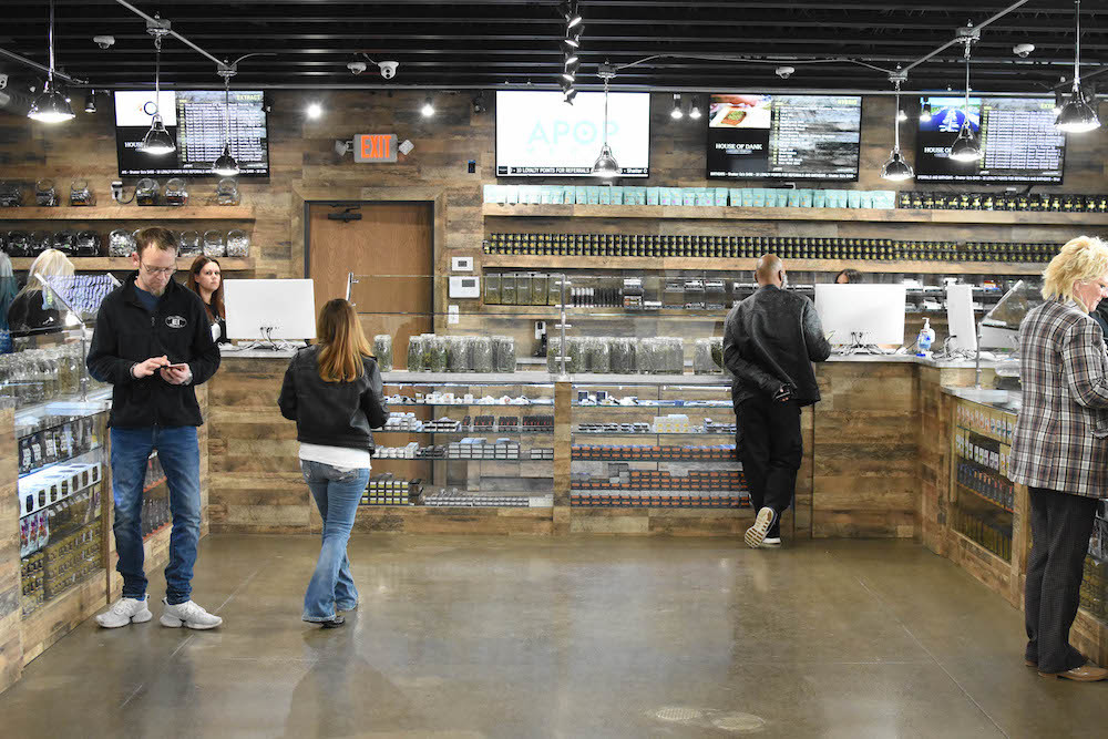 Modern cannabis dispensary retail experience at House of Dank