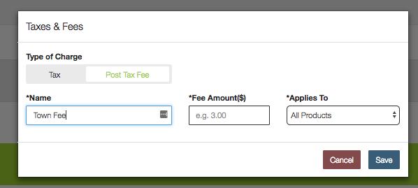 Post Tax Fee