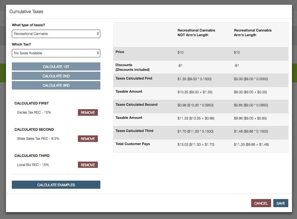 setting up cumulative taxes in Flowhub