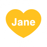 Jane Logo Big Heart WHITE