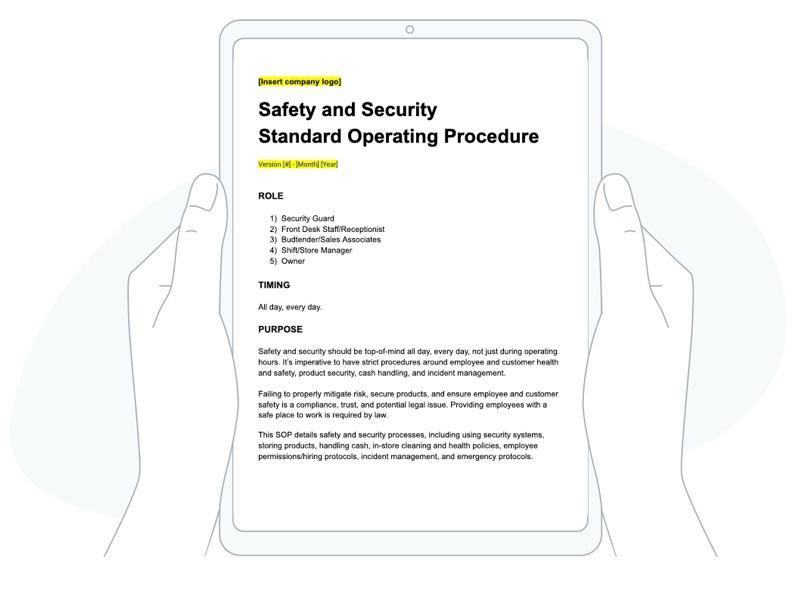 Safety SOP image
