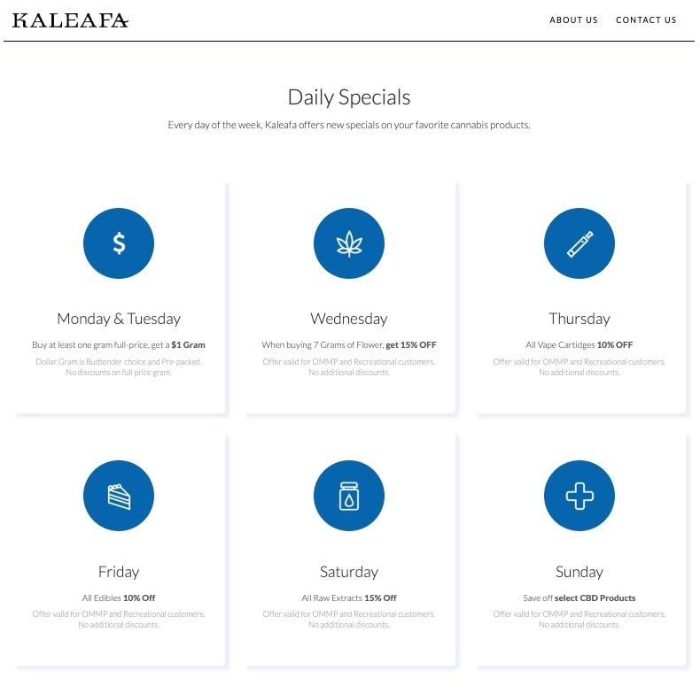Kaleafa Daily Specials