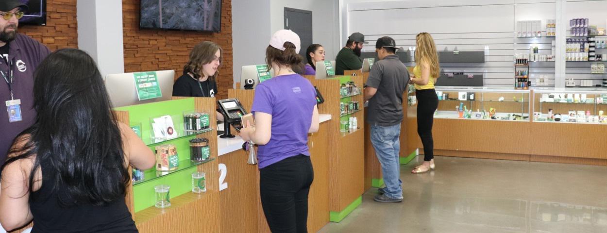 Bank model dispensary layout green dragon colorado