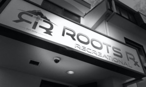 Roots RX small dispensary signage