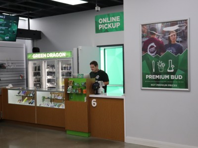 Online pickup window at Green Dragon