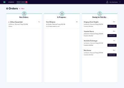 order ahead status board updated