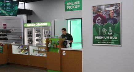 Online pickup window at Green Dragon