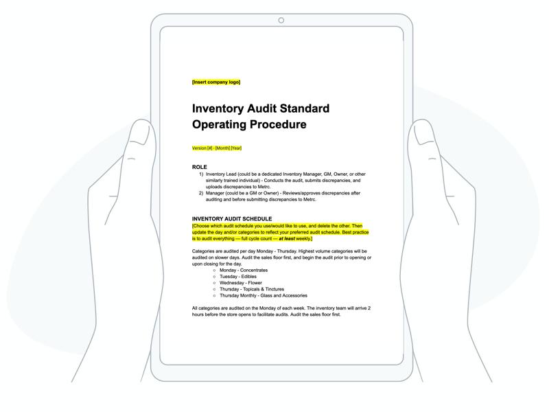 Inventory audit splash