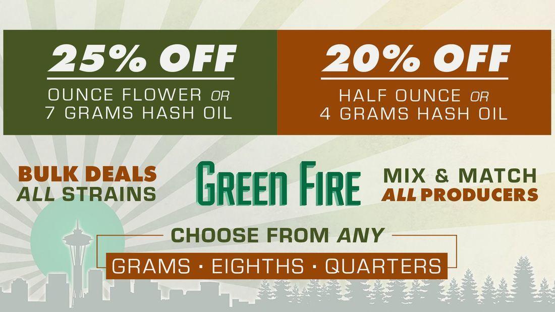 green fire cannabis specials