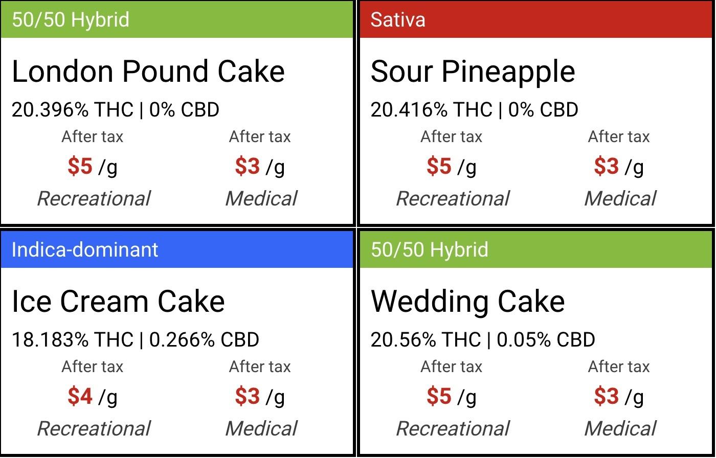 cannabis flower cards
