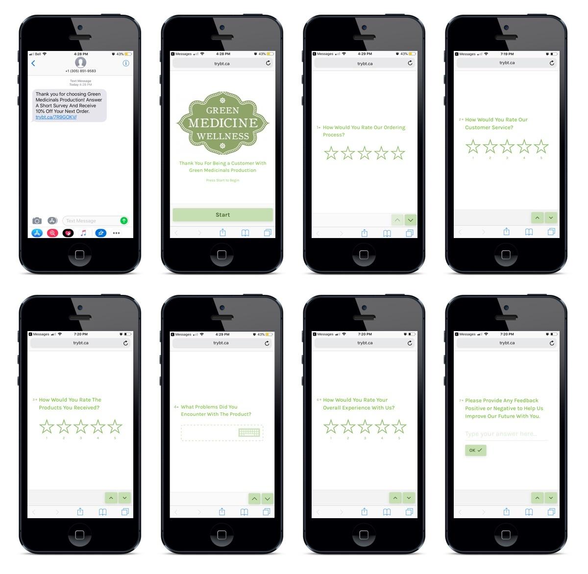 mobile dispensary sms surveys
