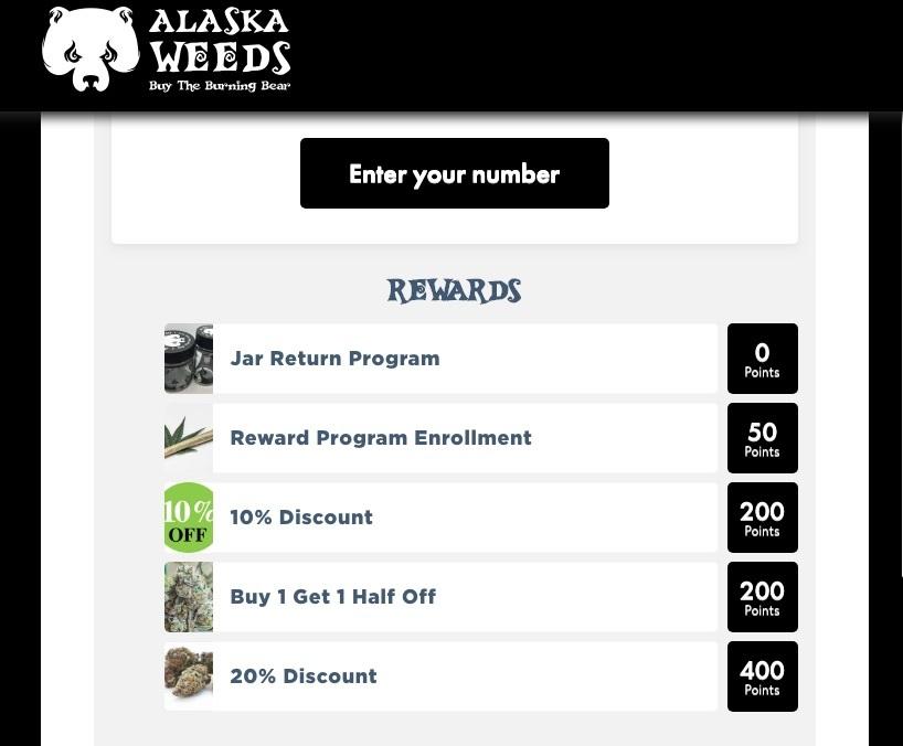 alaska weeds loyalty program