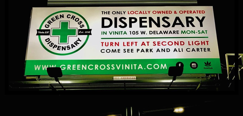 Green Cross Oklahoma billboard
