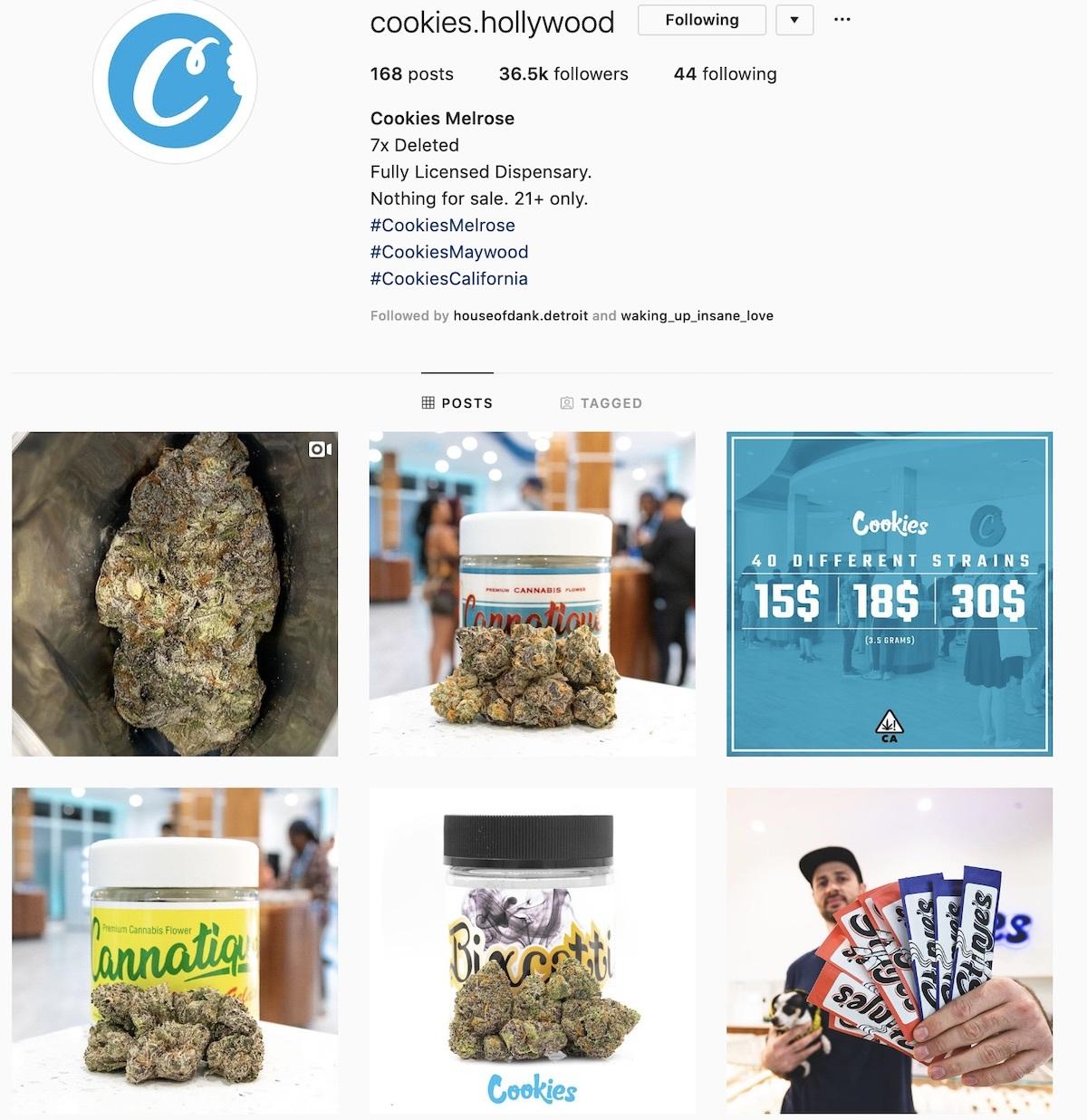 Cookies Dispensary marketing