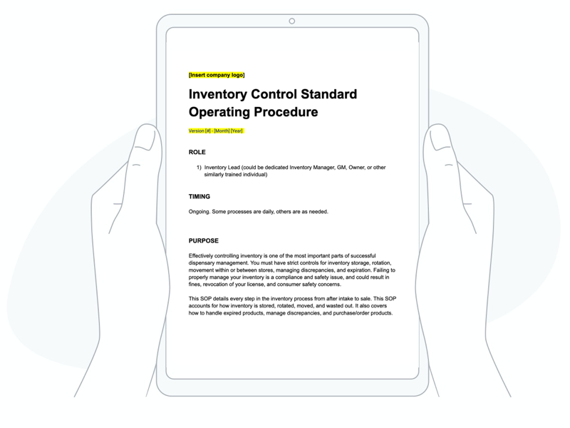 download your free dispensary inventory control SOP today!