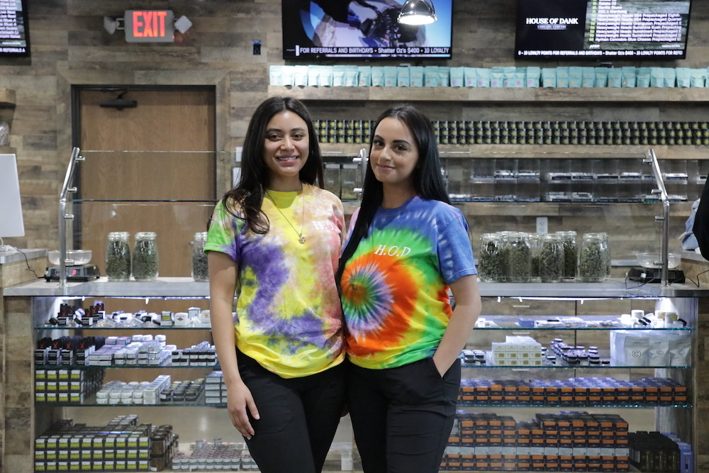 Dispensary employees wearing matching shirts