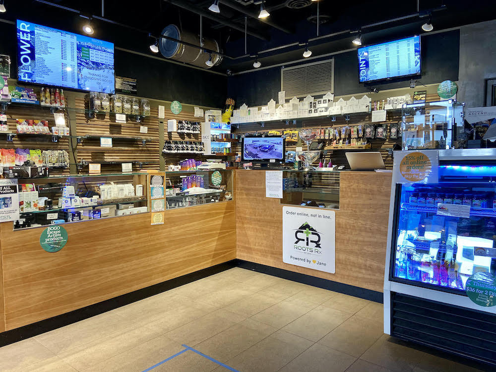 cannabis dispensary with a small space
